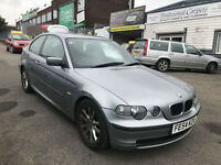 54 PLATE 2004 BMW 316 1.8 PETROL 3 DOOR COMPACT Ti ES * START AND DRIVE VERY WEL