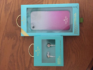 Kate spade IPhone 6 and 7 case and earphones