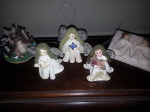 3 angels , Willow Tree plaque, CharmingTails collectible