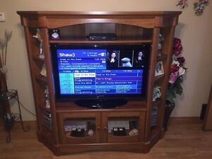 Solid Wood  Entertainment Unit Cabinet