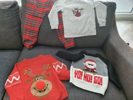 4-5 year Christmas jumpers and PJs
