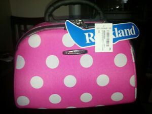 """NEW Rockland pink cosmetic case travel 14/11/9"""""""