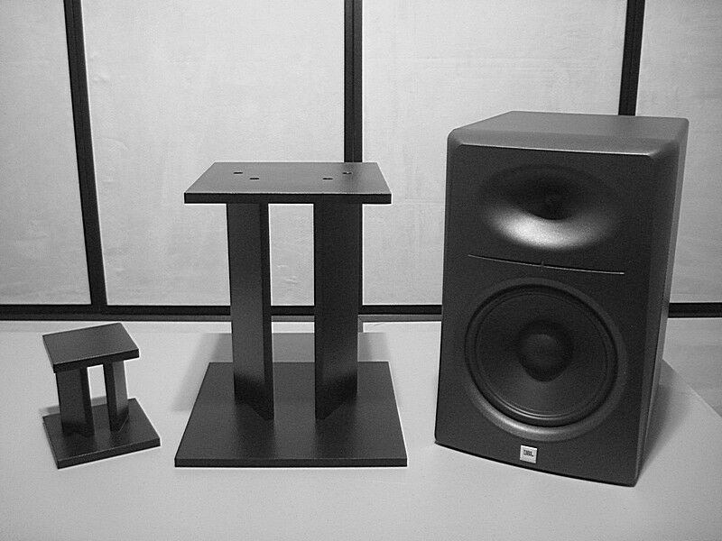 Custom Speaker Stand - SS-B - Mini Desktop to 12 18 24 30 36 inch - Hard Wood