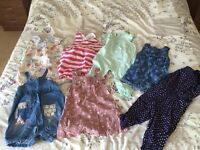 Baby girl 7 x playsuits 9-12 months