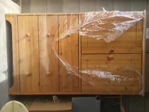 Natural pine hutch  &  pinebettle cupboard