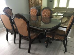 Sofa sets and dining table