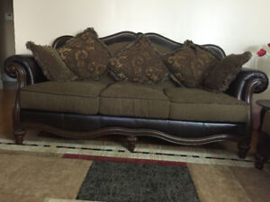Ashley  8 Seat leather fabric sofa with nice center coffee table