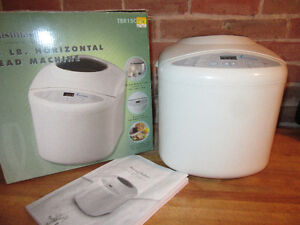 1.5 LB HORIZONTAL BREAD MACHINE. ONLY TAKEN OUT OF BOX AND USED
