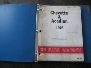 CHEVETTE & ACADIAN 1976 PARTS MANUAL ORIGINAL