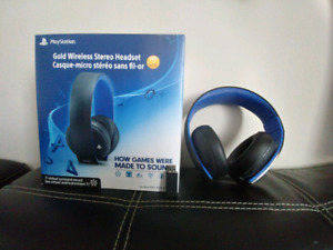 Ps4 gold wireless stereo headset 7.1 surround