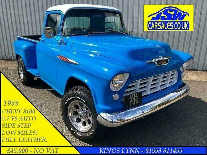 1955 CHEVROLET 3100 SIDE STEP PICKUP - AMERICAN. CHEVY. LHD. 5.7 HEMI. V8. AUTO for sale  Kings Lynn, Norfolk