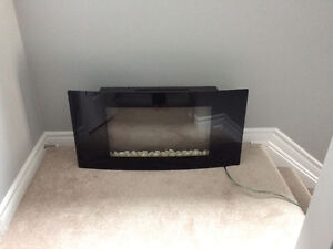 PERFECT CONDITION WALL MOUNT FIREPLACE!