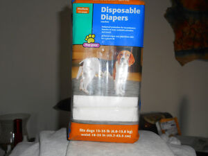 Doggie diapers 15-35 lbs 11 diapers