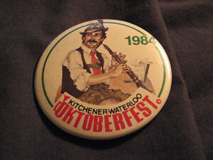 OKTOBERFEST 1981, 84& 91 KITCHENER WATERLOO VINTAGE BUTTON PINS Belleville Belleville Area image 2