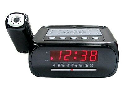 Supersonic SC-371 Digital Projection Alarm Clock With AM/FM Radio & Aux Input
