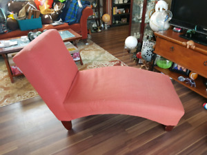 Small Orange Chaise Lounger