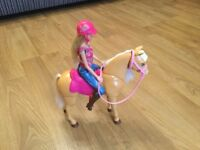 Barbie and horse set