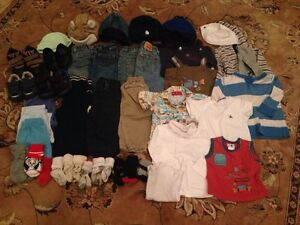 Lot of Boys Size 12 months Clothes and Shoes (43 items)