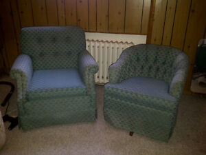 PAIR OF MATCHING ARMCHAIRS