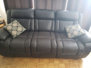 Reclining Leather couch set