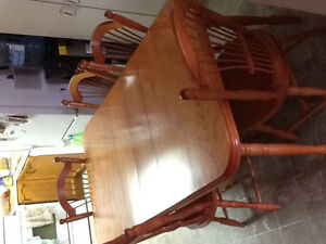 Dining table chairs Maple wood