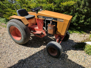 Case 446 Garden Tractor With Attachments