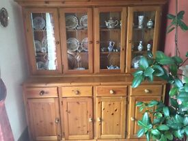 Large Pine Dresser and matching TV unit