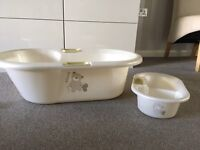 Loved & Adored Baby Bath & Top & Tail Bowl