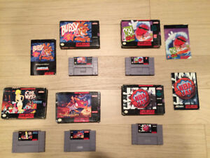 Boxed Super Nintendo Games. All Tested and Work Great.
