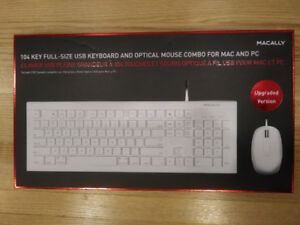Keyboard & Mouse Combo for Mac Apple (Wired)  MACALLY