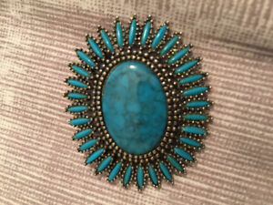 Turquoise brooche