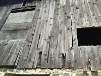 Antique barn wood and beams