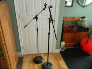 Sound Board/2 Mic Stands/2 Boom/ 2 Mics/holder and cords to mics