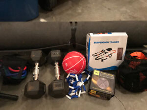 2-Suspension trainers TRX bracket and exercise equipment
