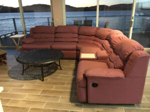 SECTIONAL WITH SOFABED AND RECLINERS