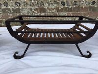 Fireplace Cradle Grate - wrought iron, 2 available