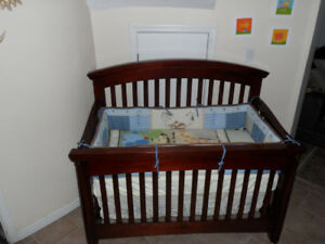 Italian crib 4 in1 with mattress,bedding set+toy