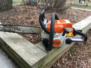 Stihl MS 180-C gas chainsaw with 16 inch bar and chain