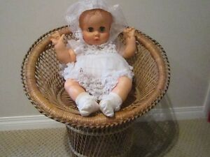 Vintage Large 21'' Tall Woven Wicker Doll Chair Regina Regina Area image 4