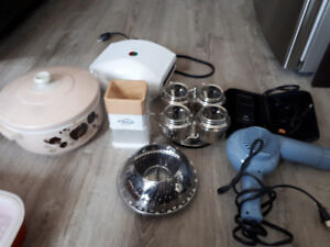 Home items!! Hair dryer, electric shavers, sandwich press + more