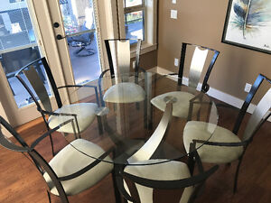 """Elite Modern 54"""" Table, 6 Chairs"""