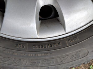 Winter Tires with Steel Rims + VW covers (195/65 R15)