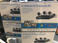 Complete Full Set Of CCTV, 4 Camera, DVR, Cables, Brand New Boxed