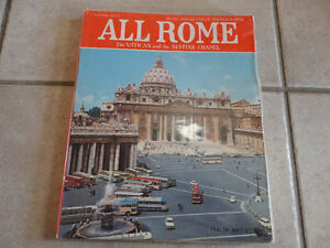 LOT OF 2 BOOK ALL ROME THE VATICAN AND SISTINE CHAPEL & ROME London Ontario image 2