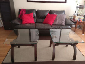 Leon living room set - couch side tables and rug