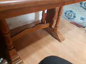 Dinning room table with two extenders