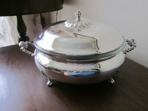 SILVER FOUR/OVEN SERVING DISH