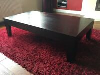 SOLID WOOD WENGE COFFEE TABLE