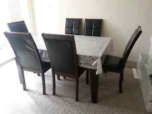 Dinning table with six chairs Kitchener / Waterloo Kitchener Area image 7