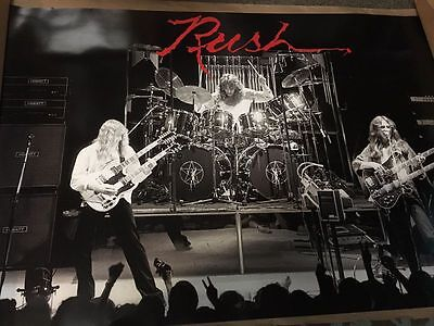 Rush Live in Concert Poster Neil Peart Geddy Lee Alex Lifeson